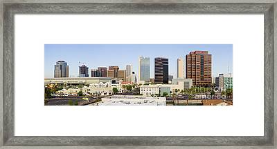High Rise Buildings Of Downtown Phoenix Framed Print by Jeremy Woodhouse