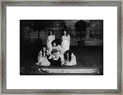 High School Play, Original Caption Miss Framed Print by Everett
