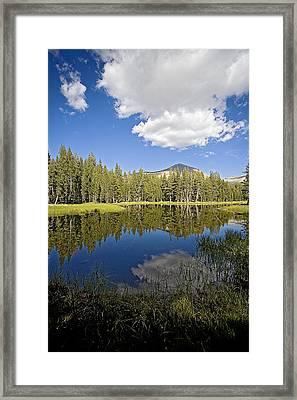 High Sierras Lake Framed Print by Bonnie Bruno