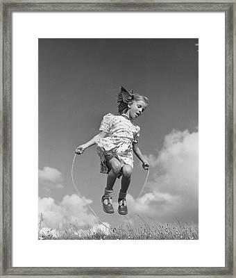 High Skips Framed Print