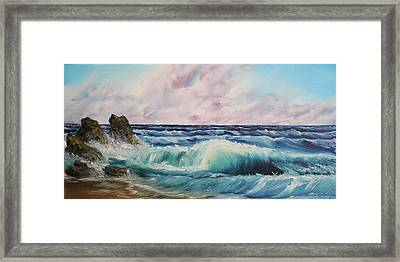 Framed Print featuring the painting High Tide by Christie Minalga
