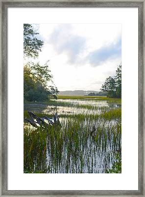 High Tide Framed Print by Margaret Palmer