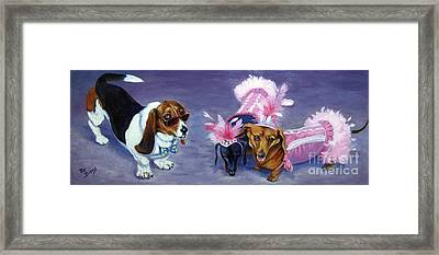 Framed Print featuring the painting Highclass Hotdogs by Pat Burns