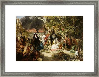 Highgate Fields During The Great Fire Of London In 1666 Framed Print by Edward Matthew Ward