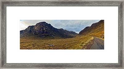 Highland Cliff Panorama Framed Print