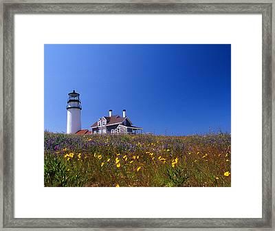 Highland Lighthouse Cape Cod Framed Print by Skip Willits