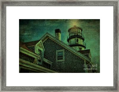 Framed Print featuring the photograph Highland Lighthouse by Gina Cormier