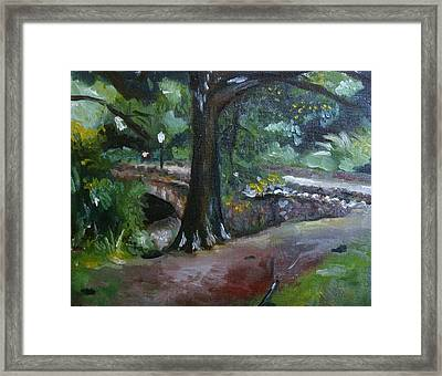 Highland Park Path Framed Print by Victor SOTO