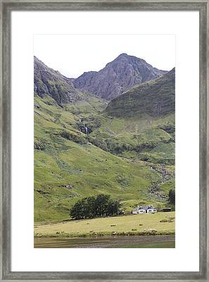 Framed Print featuring the photograph Highland Pass by David Grant