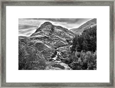 Highland Stream Bw Framed Print by Paul Prescott