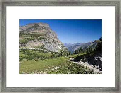 Framed Print featuring the photograph Highline Trail 1 by Katie LaSalle-Lowery