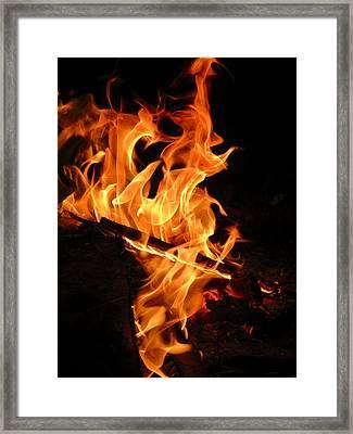 Highly Defined Flame Framed Print