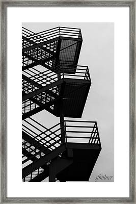 Highrise Escape Framed Print by Steven Milner