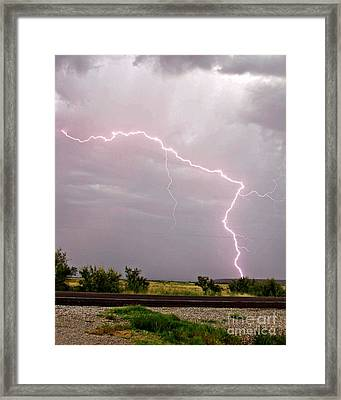 Highway 380 Strike Framed Print by Shawn Naranjo