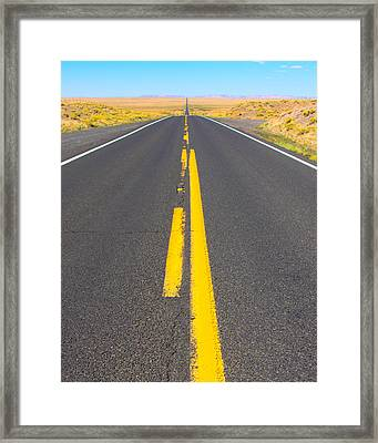 Highway 87 Navajo County Az Framed Print by Troy Montemayor