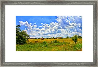 Highway D New Melle Mo Framed Print by Linda Tiepelman