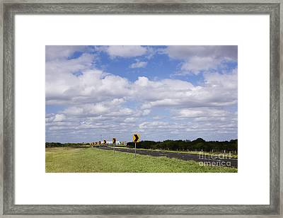 Highway In Northern Mexico Framed Print by Jeremy Woodhouse