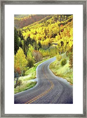 Highway Near Alpine Framed Print by Utah-based Photographer Ryan Houston