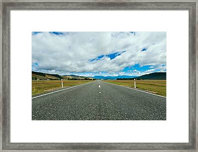 Highway Through The Countryside  Framed Print by Ulrich Schade