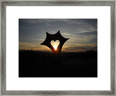Highway To Heaven Framed Print by Aj Willams