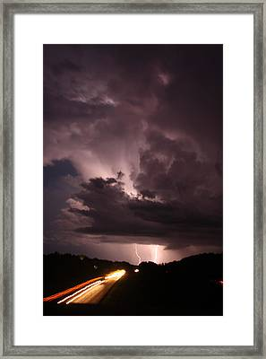 Highway Weather Framed Print by David Paul Murray