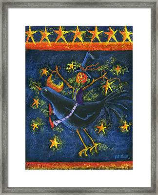 Hiho Mr. Crow Framed Print by Pat Olson