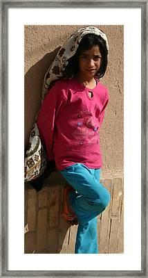 Hijab Framed Print by Tia Anderson-Esguerra