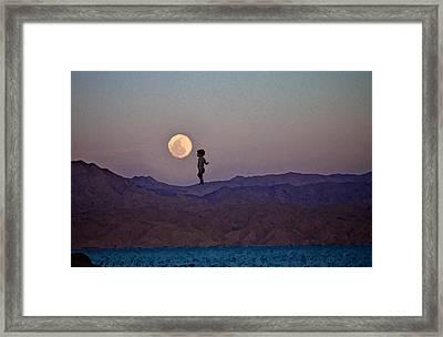 Hijo De La Luna Framed Print by Jenn Bodro