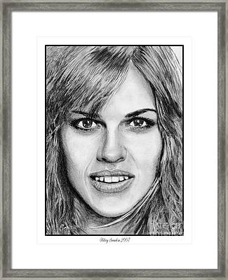 Hilary Swank In 2007 Framed Print by J McCombie