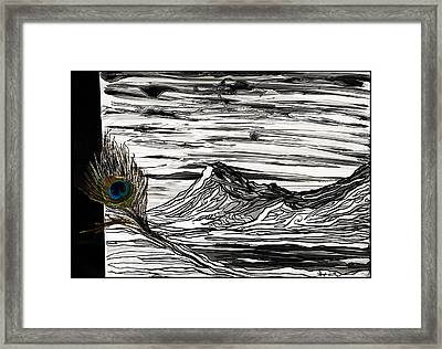Hilary's Feather Framed Print by Stephanie Meyer
