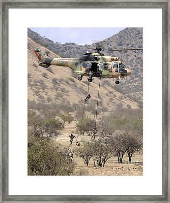 Hilean Special Forces Perform An Air Framed Print by Stocktrek Images