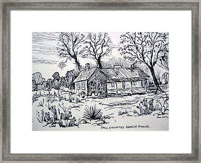 Hill Country Ranch House Framed Print by Bill Joseph  Markowski