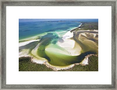 Hill Inlet, Whitsunday Islands, Australia Framed Print by Peter Adams