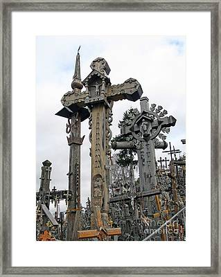 Hill Of Crosses 09. Lithuania Framed Print
