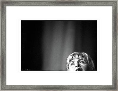 Hillary Framed Print by Rebecca DAngelo