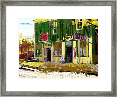 Framed Print featuring the mixed media Hilliard Bar by Charles Shoup