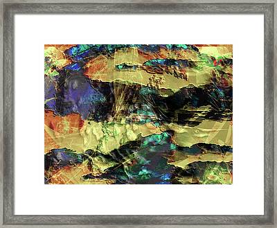 Hills Of Gold Framed Print by Monroe Snook