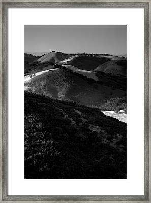 Hills Of Light And Darkness Framed Print by Steven Ainsworth