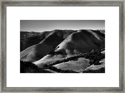Hills Of San Luis Obispo II Framed Print by Steven Ainsworth