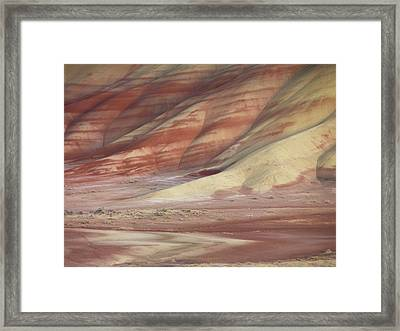 Hills Painted By Earth Minerals Framed Print by Leland D Howard