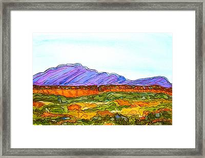 Hills That Nourish Framed Print