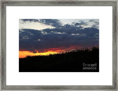 Framed Print featuring the photograph Hillside Fire by Everett Houser