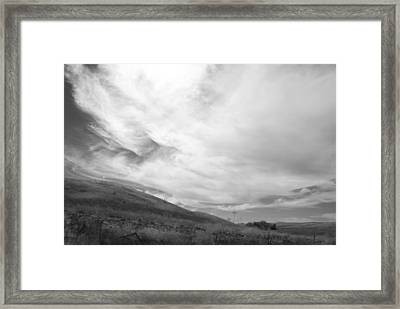 Framed Print featuring the photograph Hillside Meets Sky by Kathleen Grace