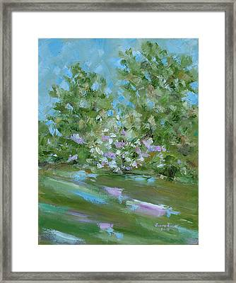 Framed Print featuring the painting Hilltop by Judith Rhue