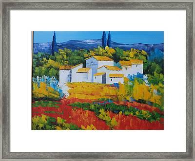 Hilltop Village Framed Print