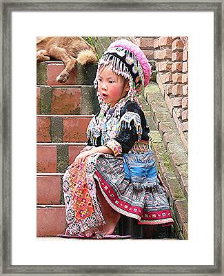 Hilltribe Cutie Framed Print