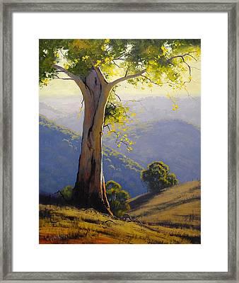 Hilly Landscape Framed Print by Graham Gercken