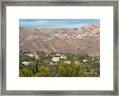 Hilly Residential Area Framed Print by David Buffington