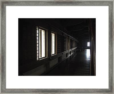 Himeji Castle Corridor - Himeji City Japan Framed Print