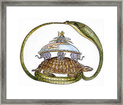 Hindu Cosmogram Framed Print